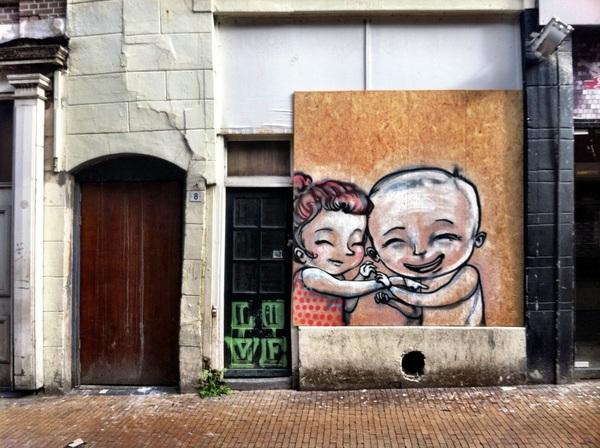 Mooi stuk graffiti gezien onderweg.