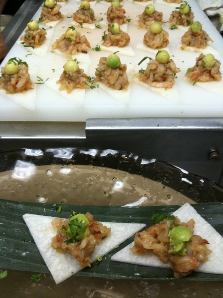 "Hosting kick off party 4 LA Film Festival at Red O. Serving ceviches, tamales, jicama ""tostadas"" with shrimp mojo"