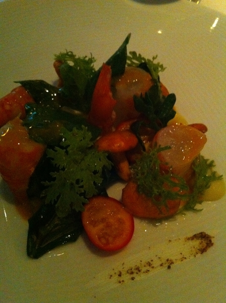 Wonderful dinner at Manresa. Precise,beautiful,flavors of the garden. Memorable spot prawns w those lychee toms