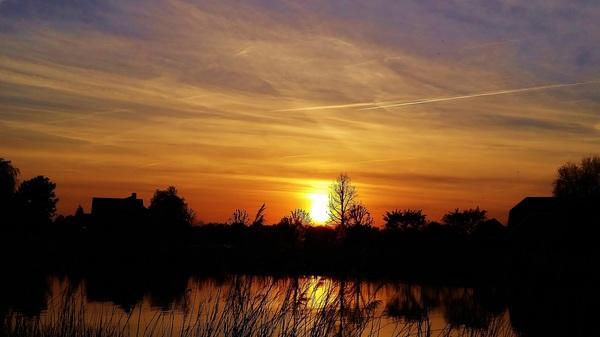 Zonsondergang aan de Rotte #buienradar