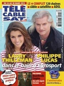 @LauryThilleman et Philippe Lucas font la une de Téle Cable Sat ! #Eurosport #Natation