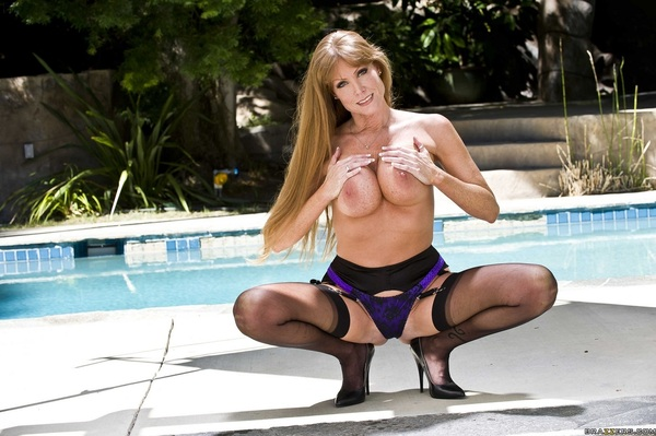 By the pool... #FriskyFriday #Brazzers #Stockings