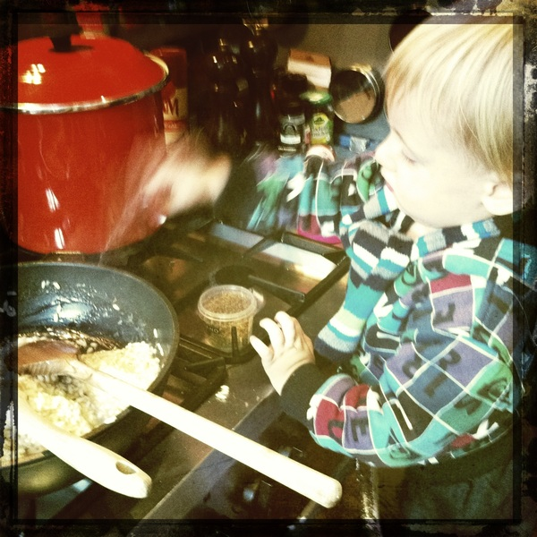 Fletcher of the day: Making dinner