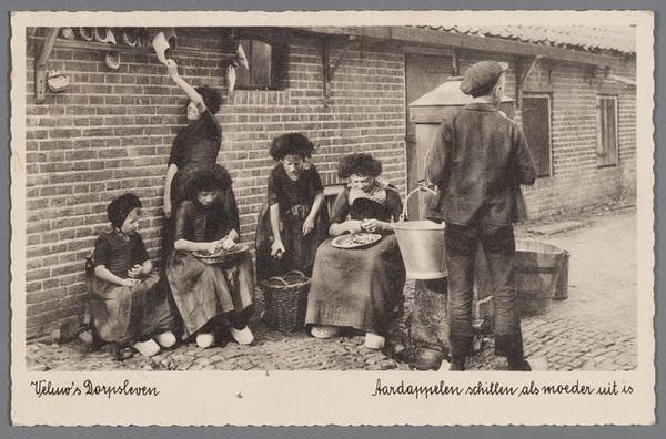 Veluw's Dorpsleven: aardappelen schillen als moeder uit is