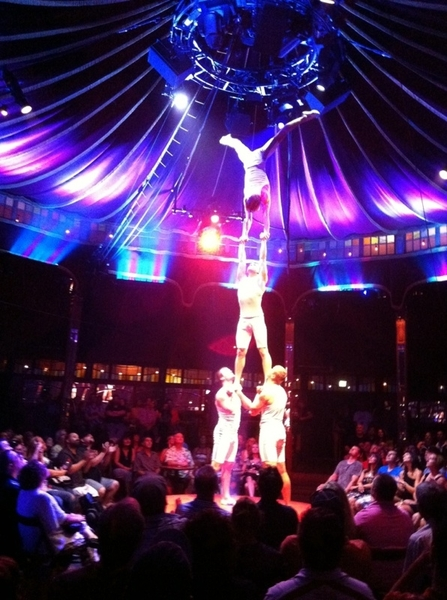 Absinthe in Spiegeltent @ Caesars: gravity defying demonstration of unbelievable strength