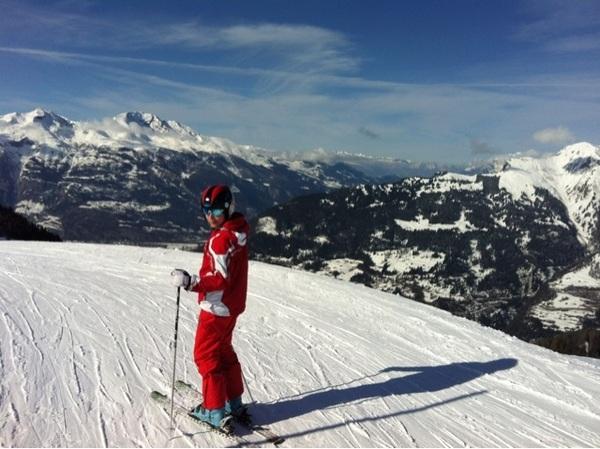 Beautiful skiing today, loving it!