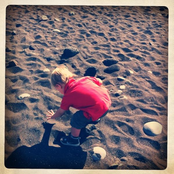 Fletcher of the day:  Black sand