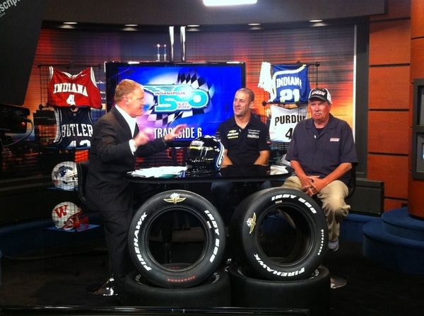 #TrackSide6 tonight with @DaveFurst @TonyKanaan & RM discussing quals @ims on @rtv6. @kvracing #indy500