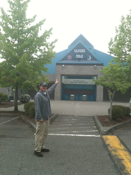 Sports Techie at the Weyerhaeuser King County Aquatic Center - Home of 2012 U.S. Olympic Team Trial