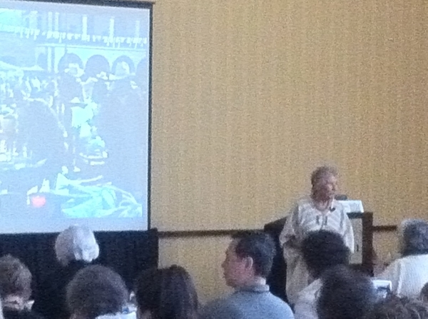 Got a chance to hear Grande Dame Diana Kennedy do a slide presentation from her book Oaxaca al Gusto