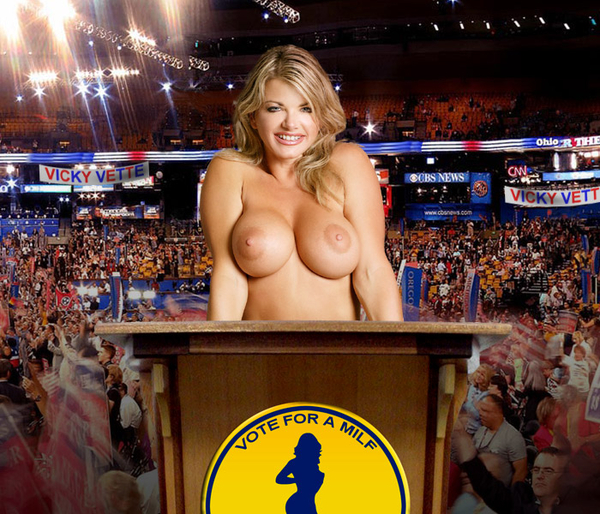 It is #ElectionDay - VOTE FOR A MILF! (@vickyvette) - Retweet it if you like it!