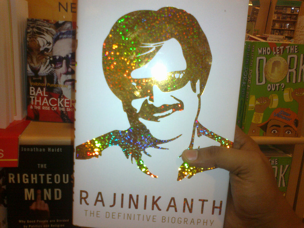 Birthday gift for a #Thalaivar #Rajinikanth fan and a close friend! @namanrs's Book from @crossword_book