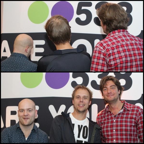Vanavond was @arminvanbuuren te gast bij de Frank En Vrijdag Show! Straks om 22.00 uur hoor je 'm live vanuit de 538 studio met #ASOT. Tune in of volg 't via 538 TV! #538radio