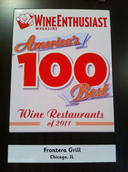 SuperProud of Som Jill Gubesch's award: We're in the Top 100 Wine Restaurants in the country!