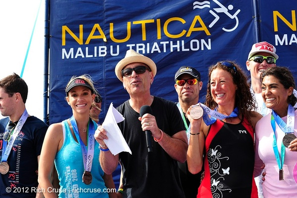 Here's @howiemandel and @chrissiesmiles at last weekend's @Nautica Malibu Triathlon to benefit @ChildrensLA .