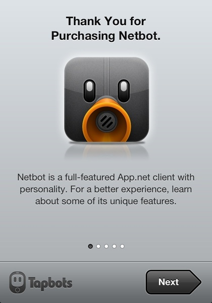 Using Netbot for iPhone. Now totally free https://itunes.apple.com/id/app/netbot-for-app.net-iphone/id563595132?mt=8