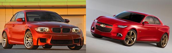 En nog maar een voorbeeld van de #Chevrolet Code 130R Concept & BMW 1 Serie M #Coupé #verdacht