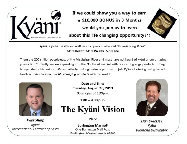 I'm trying to get everyone I know to come to this event!! #kyani #healthy #wealthy #wise #bostonstrong #kyani #easymoney