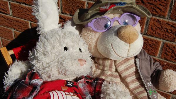 Rufus and Doc Ben enjoying some sun!