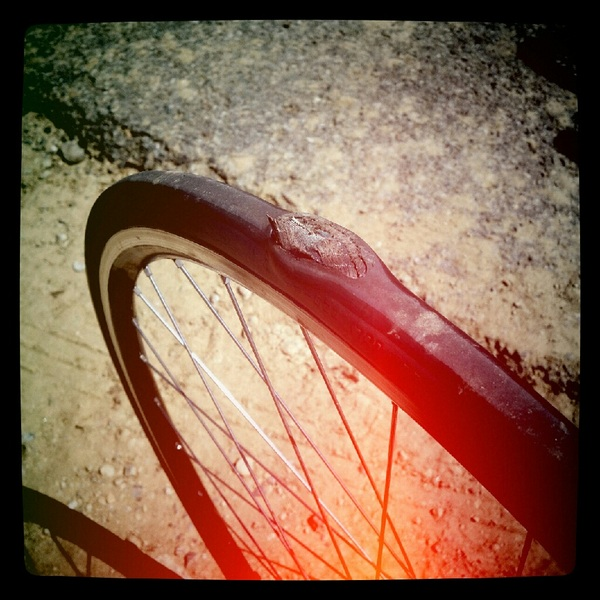 I don't always blow tires on my bike, but when I do I make sure they are Schwalbe. FMR...two days, two blowouts. #grrr