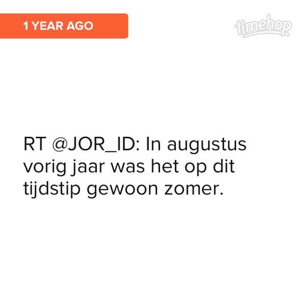 Ik herhaal @JOR_ID van vorig jaar nog maar een keer