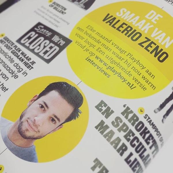 Playboy vroeg @phalerieau waar hij nou warm voor loopt. Lees het hele interview op Playboy.nl #playboy #desmaakvan #valeriozeno
