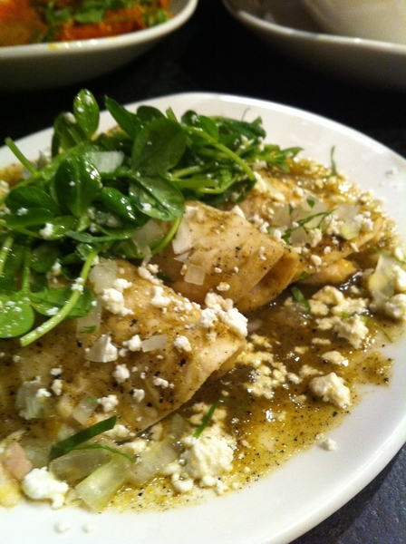 New Frontera Menu starts today: a highlight: mahi/fingerling potato enchiladas w rstd tomatillo sauce,queso fresco