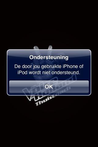 @RTL_TVOH Voor de update deed de app het helemaal niet (crashte). Nu krijg ik de melding 'De door jou gebruikte iPhone of iPod wordt niet ondersteund', terwijl ik gewoon een iPhone 3Gs heb?! Herinstal