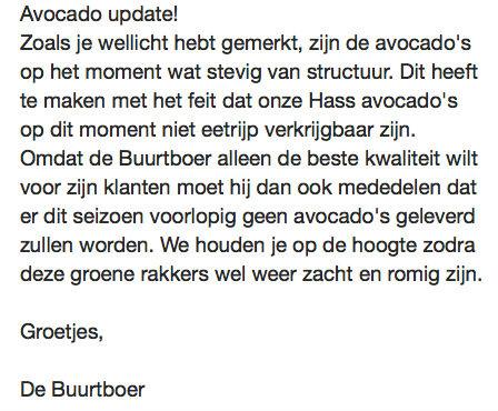 wij onderbreken de reguliere uitzending voor een avocado update :D #buurtboer #groenerakkers