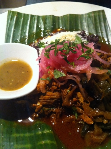 1st Frontera order of evening: cochinita pibil (Yucatan woodoven-roast suckling pig) w habanero salsa.Only Wednsdy