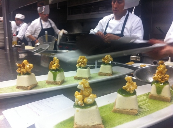 Red O: pastry chef Joanne has new desserts + old faves like goat cheese cake w hoja santa sauce, pepita carm corn