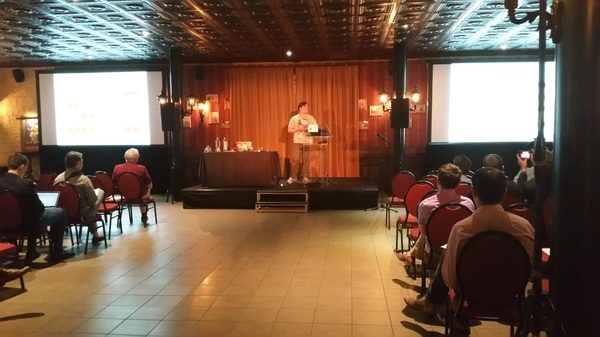 @hansdeleenheer on stage maybe for his last time at a vmug #vmugbe