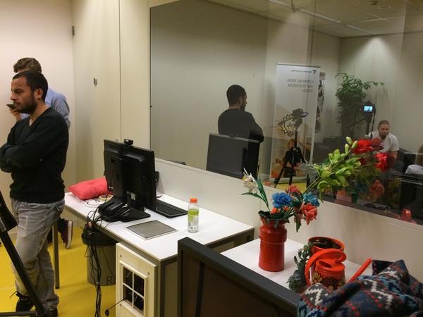 The usability lab doubles as studio with @amal #hva #cmda