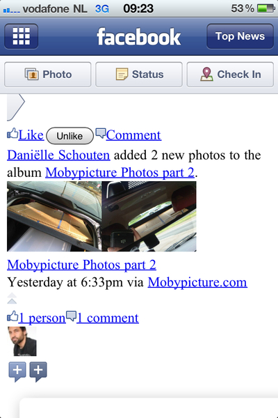 Looks like Facebook's iPhone app is also (partly) HTML/CSS