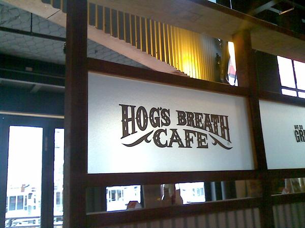 Mid afternoon neck break @ hogs breath cafe