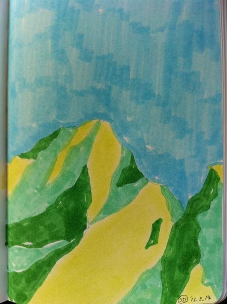 今朝の一枚:351 それじゃあ山の絵にしよう