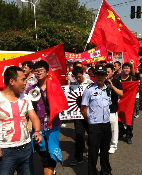 More photos from protests near Japanese embassy, Beijing #China