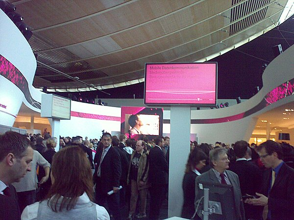 "It's all pink and packed here at the @trendforum by ""T"""