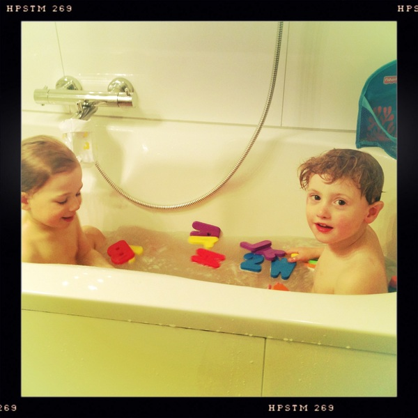 Fletcher of the Day: in the bath with Mateo