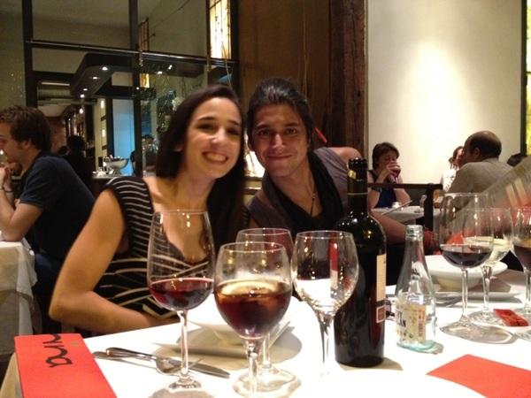 Cenando en Madrid con  @Luisibarmx,  @Judithjuds y  @Julinivicious