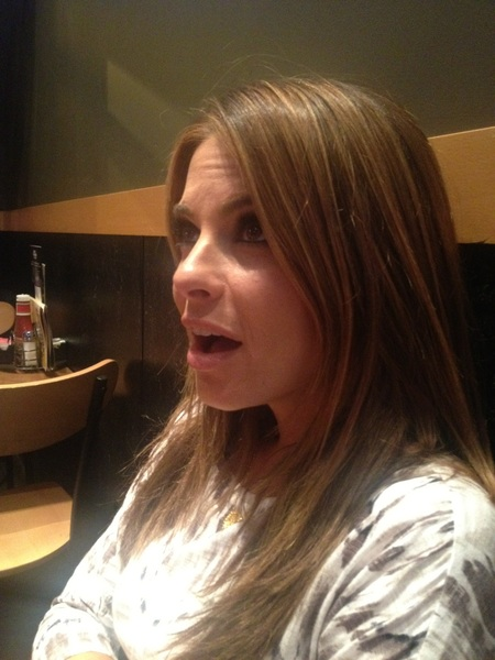 Maria's expression on the Velasquez fight ! I've never seen so much blood in a fight . I feel bad , ha ha .. Not really
