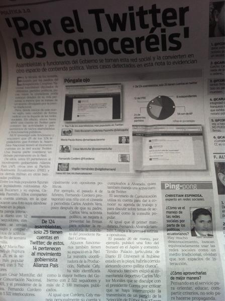 """""""Por el Twitter los Conoceréis"""", captura material @HoyComEc a propósito @cumbre2011 #cumbre2011"""