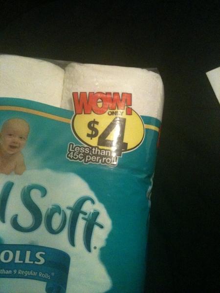 $4 for 9 rolls of Angel Soft!?! Gotta love #Walgreens