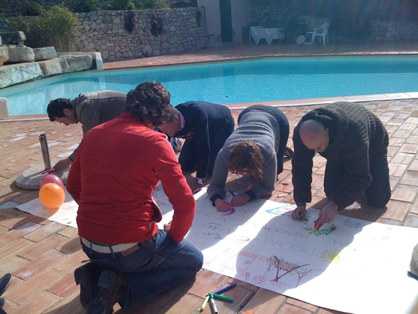 Co-creation with the team at the pool