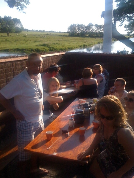Zwietjesday (2): relaxing after 'polder sports' and wooden shoe golf'