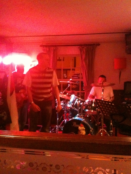 @SatScenes Saturday night in the Bull in #Theale rocked! And so did my head this morning :-/