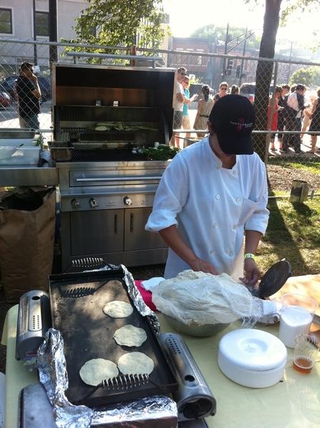 Green City Market BBQ: making 1300 tortillas in Lincoln Park!