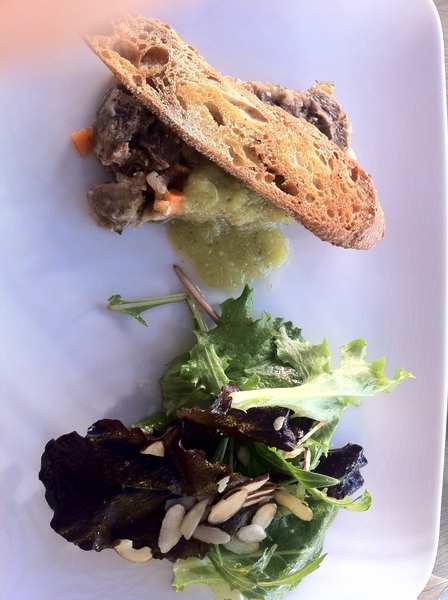 San Rafael Winery: son Ludvig Hussong= professional chef&winemaker. Talent in both: tongue terrine,escabeche veg