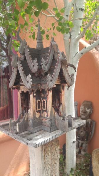 Eccentric #birdhouse and naked wooden man. #taos #nm #art #littlemountaintown