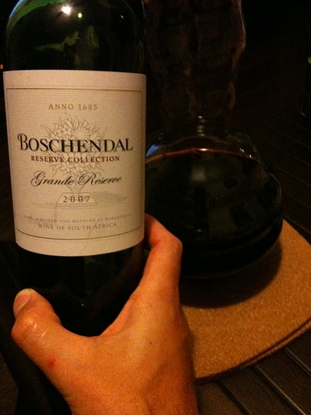 Boschendal grande reserve 2007 is now decanting